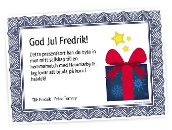 göra presentkort gratis